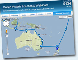 Queen Victoria Location & Webcam